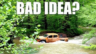 Download Mall Rated Toyota Tacoma Attempts Water Crossing Video
