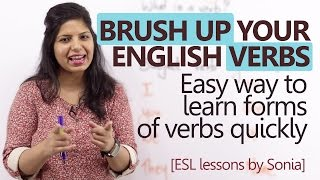 Download Brush up your 'English Verbs' - Learn forms of verbs quickly ( Basic English Grammar Lesson) Video
