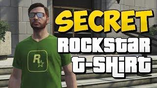 Download GTA 5 Online - How to Unlock Rockstar T-shirt (Secret T-Shirt) Video