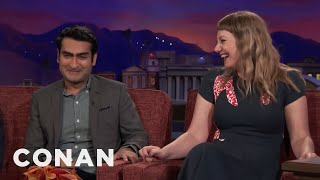 Download Kumail Nanjiani & Emily V. Gordon Remember Their Courtship Differently - CONAN on TBS Video
