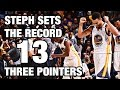 Download Steph Curry's Record Breaking 13 3-Pointers Video