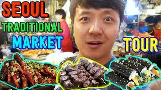 Download Korean TRADITIONAL Market Street Food Tour in Seoul Video