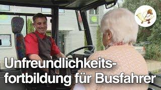 Download Zu nett: Busfahrer muss auf Unfreundlichkeitsfortbildung [Postillon24] Video