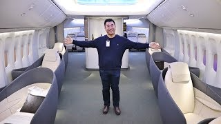 Download Inside the NEWEST Boeing 747 (Boeing Customer Experience Center) Video