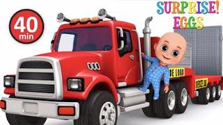 Download Car Loader Trucks for kids - Cars toys videos, police chase, fire truck - Surprise eggs jugnu kids Video
