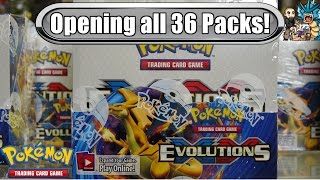 Download Early XY Evolutions booster box opening! All 36 packs! Pokemon TCG unboxing Video