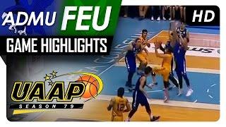 Download FEU vs ADMU | Final Four Game Highlights | UAAP 79 | November 30, 2016 Video