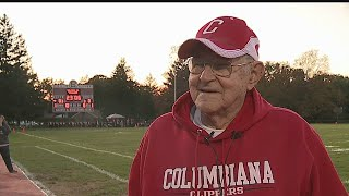 Download Columbiana Athletic Department recognizes dedicated fan, veteran with plaque Video