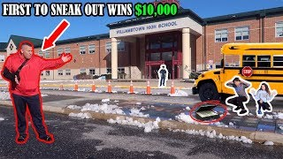 Download FIRST TO SNEAK OUT OF SCHOOL WINS $10,000! *We Got Caught* Video