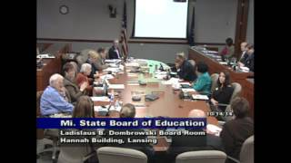 Download Michigan Department of Education Meeting for October 14, 2014 - Afternoon Session Video