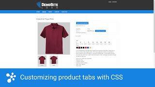Download Customizing your product tabs in DecoNetwork with CSS Video