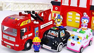 Download Pinkfong Baby Shark Fire truck, Police car, Ambulance dispatch! Arrest the villains! | PinkyPopTOY Video