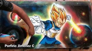 Download Vegeta spray paint art Video