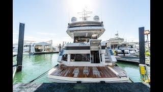 Download 360 In-Depth Walkthrough | 2019 Galeon 650 SKY @ Miami Boat Show 2019 Video