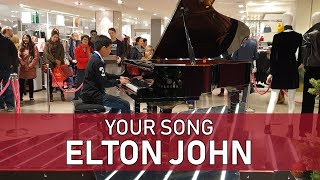 Download Your Song Piano Cover Elton John at John Lewis Oxford Street - Cole Lam 11 Years Old Video