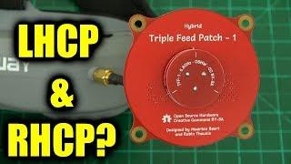 Download New triple feed patch antenna from Maarten Baert Video