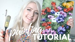 Download PAINTING TUTORIAL Acrylic Flowers | Katie Jobling Art Video