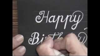 Download cursive fancy letters - how to write happy birthday card Video