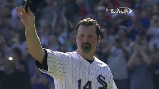 Download Konerko departs game in 6th to final ovation Video