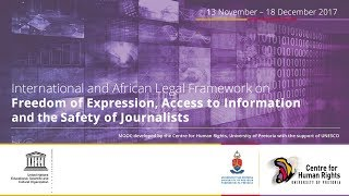 Download MOOC on Freedom of Expression, Access to Information and the Safety of Journalists Video