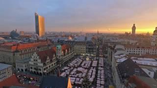 Download Leipzig aus der Luft im Winter Video