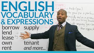 Download Speaking English – How to talk about borrowing, lending, and property Video