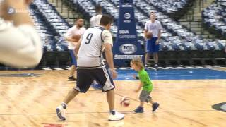 Download Tony Romo puts on a Mavericks uniform for shoot around Video