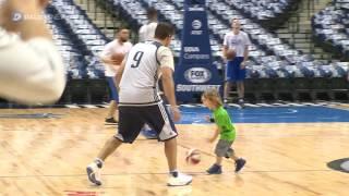 Download Tony Romo puts on a Mavericks uniform for shoot around Video