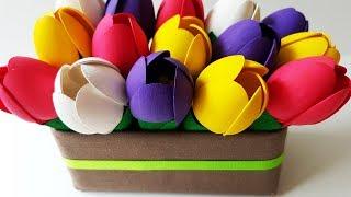 Download DIY Tulips Flowers From Spoons: Easy Craft Tutorial | Делаем Весенние Цветы. Тюльпаны Своими Руками Video