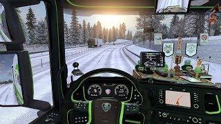 Download ETS2 (v1.30) - New Scania S730 V8 Sound + Interior + Combo Skin | Frosty Winter! Video