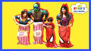 Download SURPRISE EGGS Carnival Games For Kids Toys Surprise Challenge Family Fun Activities Ryan ToysReview Video