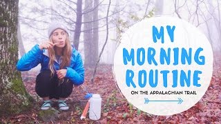 Download MY MORNING ROUTINE ON THE APPALACHIAN TRAIL Video