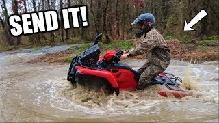 Download MUDDING on the NEW Four Wheeler! Video