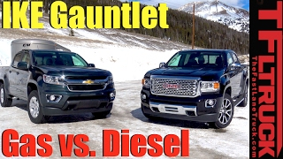 Download 2017 Chevy Colorado vs GMC Canyon Duramax Ike Gauntlet Review: World's Toughest Towing Test Video