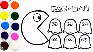Download Cómo Dibujar y Colorear Pac Man y Las Fantasmas - Aprende Colores - Learn Colors For Kids / Funkeep Video