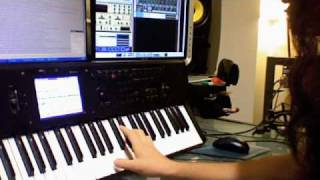 Download Keyboard shred solo tutorial (Korg M50) Video