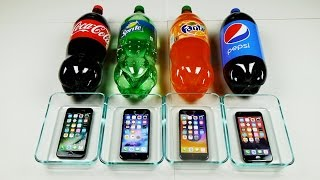 Download iPhone 7 in Coca-Cola vs Sprite vs Fanta vs Pepsi 24 Hours Freeze Test! Video