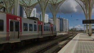 Download Lisbon Oriente Railway Station / Gare do Oriente, Lisbon, Portugal - 11th May, 2016 Video