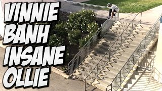 Download VINNIE BANH BIGGEST OLLIE SO FAR !!! - A DAY WITH NKA - Video