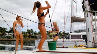 Download The Girls Came to Visit the Boat! (Sailing La Vagabonde) Ep. 56 Video
