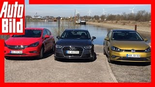 Download VW Golf vs. Audi A3 & Opel Astra (2017) - Review/Details/Fahrbericht Video