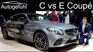 Download Mercedes C-Class Coupe vs E-Class Coupé comparison REVIEW Facelift 2019 C300 E53 AMG C-Klasse NYIAS Video