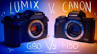 Download Canon M50 Vs Panasonic Lumix G80/85 - Best Budget YouTube Camera Video