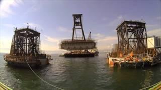 Download Construction of longest suspension bridge in Turkey Video