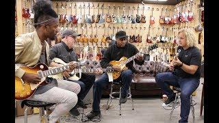 Download AMAZING JAM! Henny Hendrexz, Tim Pierce, Conrad Lee & Jason Scheff at Norman's Rare Guitars Video
