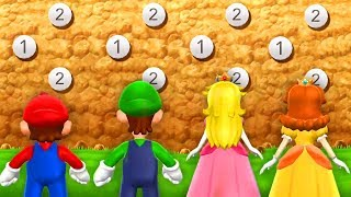 Download Mario Party 9 - Minigames - Mario vs Daisy vs Peach vs Luigi Video