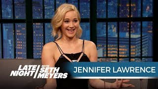 Download Jennifer Lawrence Just Shot a Sex Scene with Chris Pratt - Late Night with Seth Meyers Video