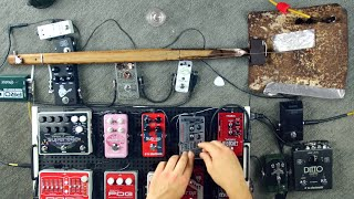 Download Making Beautiful Music with a Shovel and a Bunch of Guitar Pedals Video