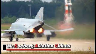 Download Beautiful Departure F-4 Phantom, 38-24, Luftwaffe, Geilenkirchen Airbase 18-06-2012 Video