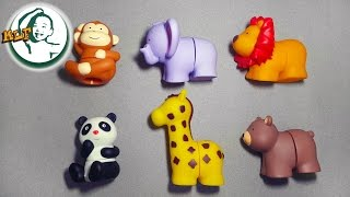 Download Learn animal names with K's Kids Popbo Blocs soft plastic building blocks toy (Wild Animals) Video
